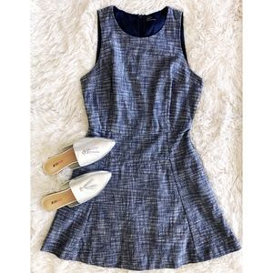 GAP elysian blue fit and flair sleeveless dress